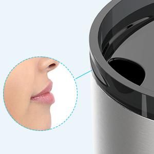 Lip design for easy drinking