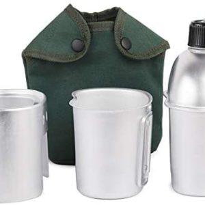 3PCS Camping Cookware SetCookware Set Ultra light Aluminum Alloy Military Canteen