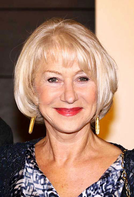 58 courtes coiffures blondes pour les femmes âgées - Coupe