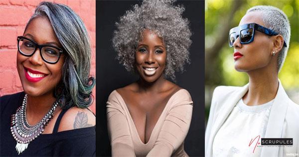 cheveux gris 11 superbes coiffures pour femmes noires de 50 ans 5 1