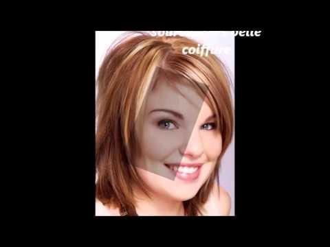 Coiffure Courte Visage Rond - YouTube