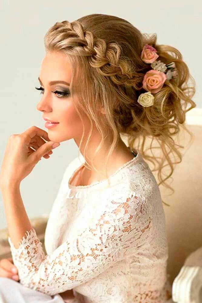 coiffure mariage boheme cheveux long - Maquillage mariage