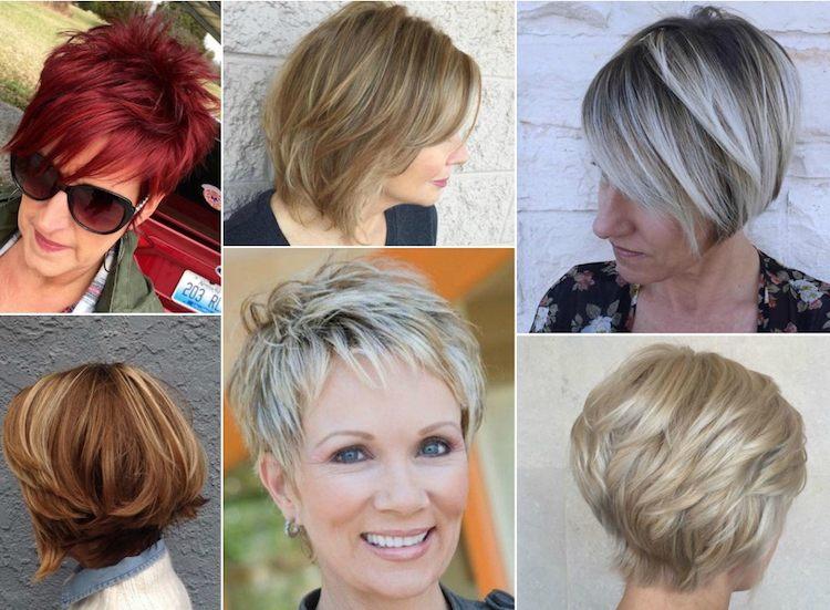 coiffure courte femme ronde plus de 60 ans