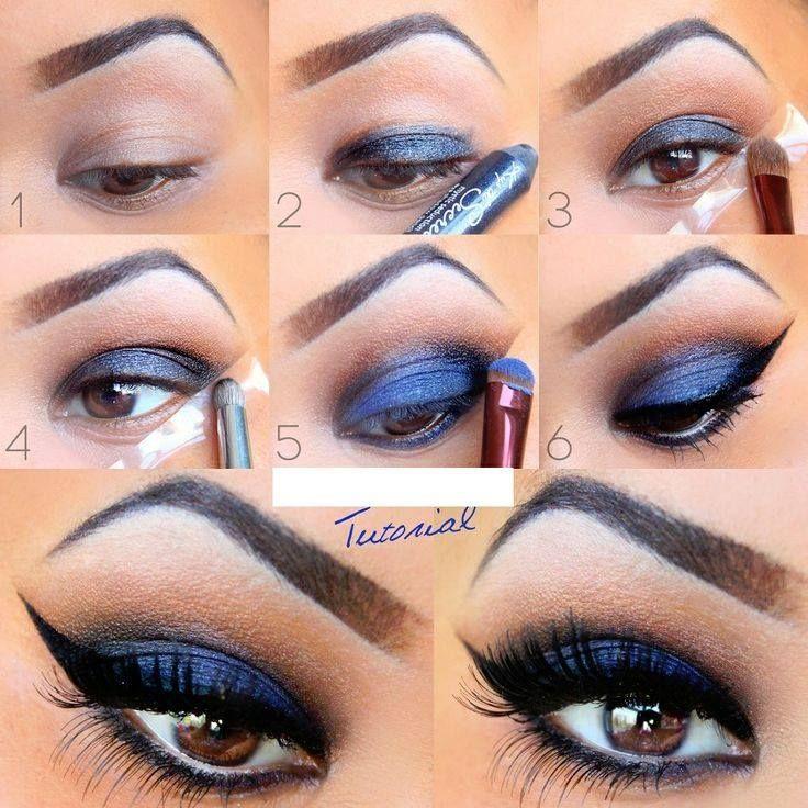 Du bleu pour les yeux marron | Beau maquillage, Maquillage