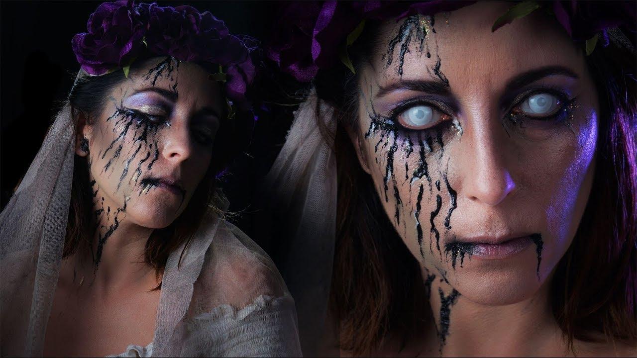 La Mariée morte / Maquillage Halloween facile - YouTube