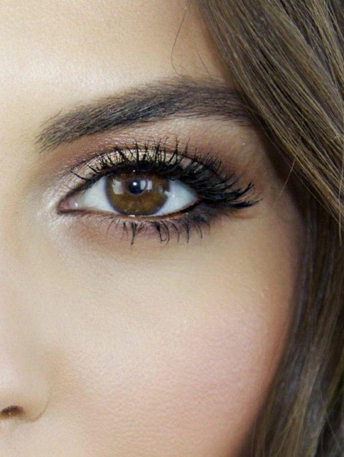 Le maquillage pour yeux marron, 51 idées en photos et