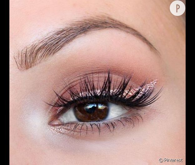 maquillage pour mariage yeux marron