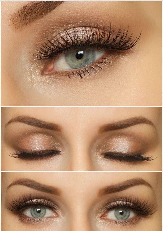 Maquillage de mariage naturel pour les yeux bleus #