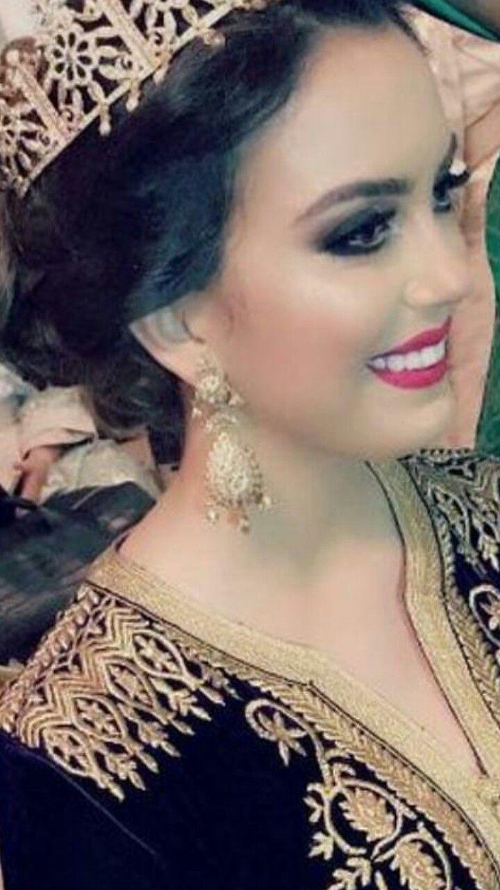 Maquillage en 2019 | Mariée marocaine, Caftan et Caftan velour