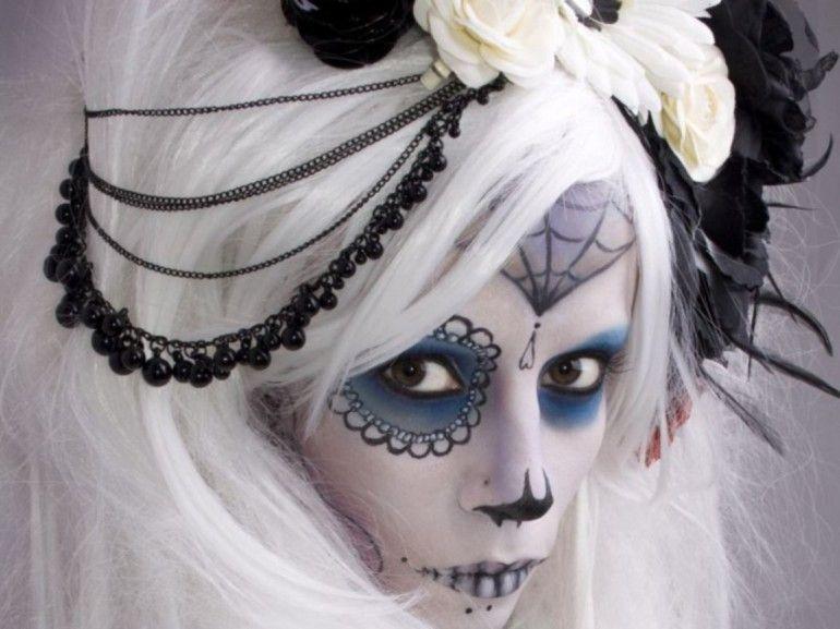 idee maquillage halloween mariée