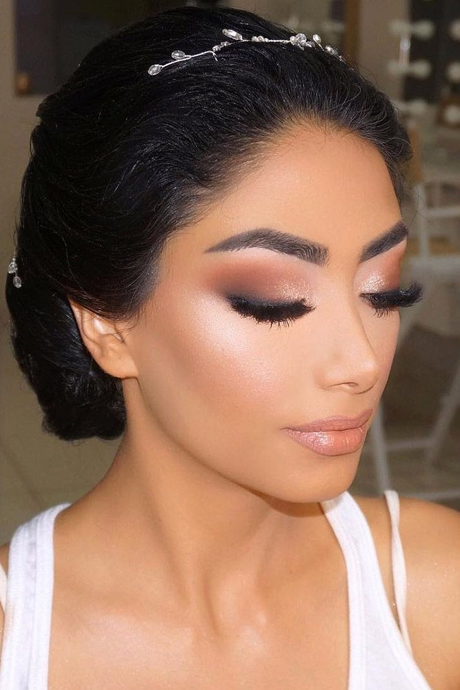 maquillage mariage pour brune yeux marrons - Maquillage
