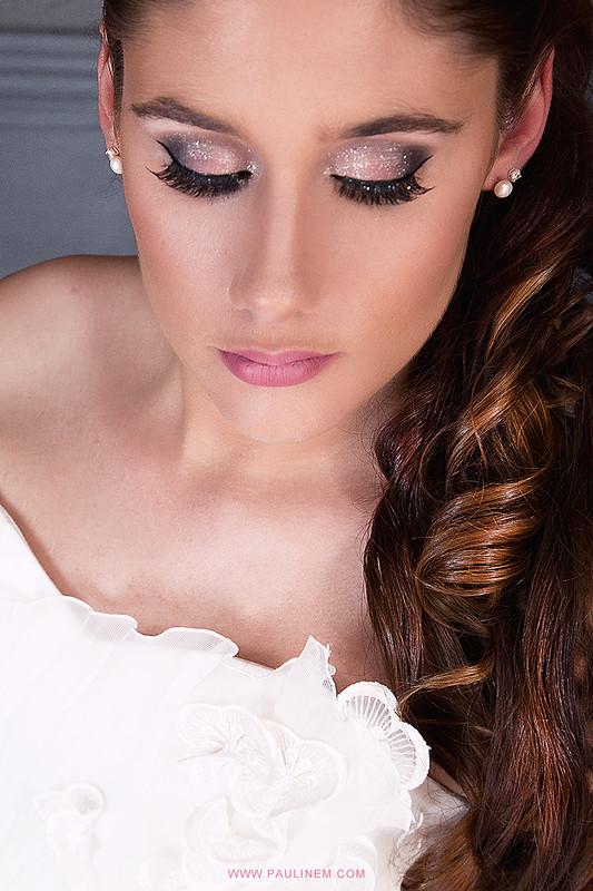 Maquillage mariée étincellant