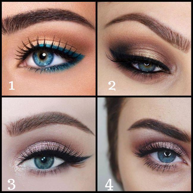 Mariée aux yeux bleus : Quel maquillage préfères-tu
