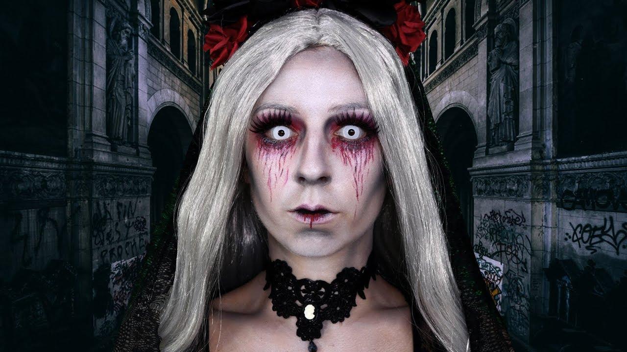 MARIÉE MORTE / MAQUILLAGE HALLOWEEN FACILE - YouTube