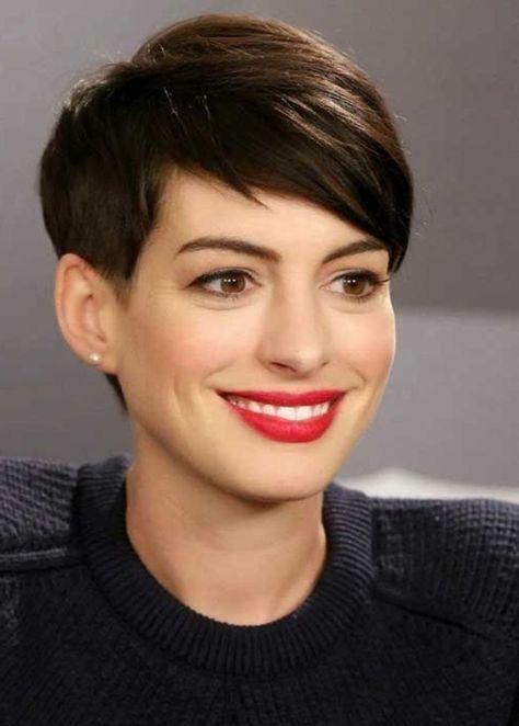 coiffure courte femme sans frange
