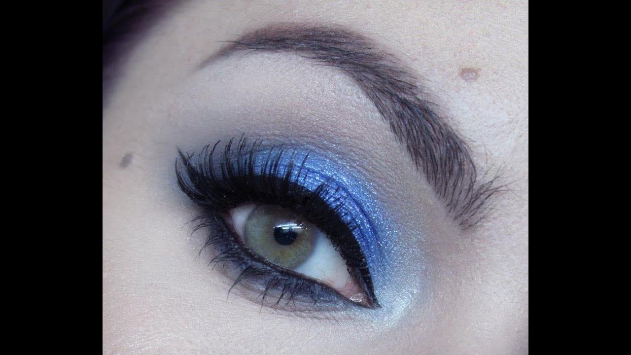 Tuto maquillage de soirée mode : Bleu royal intense - YouTube