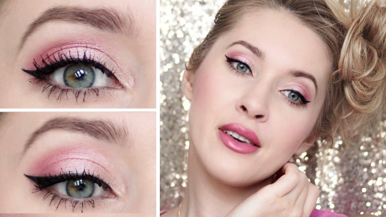 Tuto maquillage rose de soirée romantique pour printemps