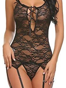 1612970451 womens lingerie bodysuit Avidlove Women Lace Bodysuit Lingerie Set
