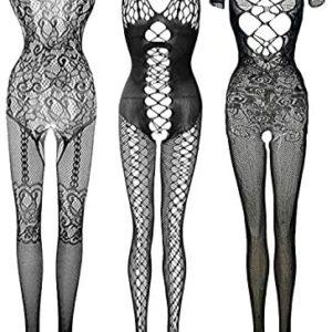 womens lingerie bodysuit Women Floral lingerie Fishnet Teddy Lace