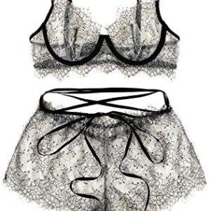 1615054981 womens lingerie SweatyRocks Womens 2 Piece Lingerie Set Sheer